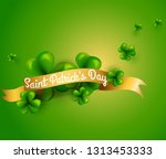 design concept with clover... | Shutterstock .eps vector #1313453333