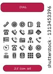 dial icon set. 25 filled dial... | Shutterstock .eps vector #1313453396