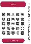 wide icon set. 25 filled wide... | Shutterstock .eps vector #1313453423