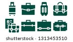 brief icon set. 8 filled brief... | Shutterstock .eps vector #1313453510