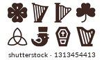 celtic icon set. 8 filled... | Shutterstock .eps vector #1313454413