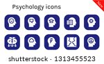psychology icon set. 10 filled... | Shutterstock .eps vector #1313455523