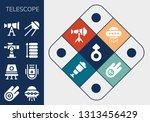 telescope icon set. 13 filled... | Shutterstock .eps vector #1313456429