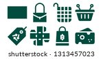 merchandise icon set. 8 filled... | Shutterstock .eps vector #1313457023