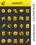 speech icon set. 26 filled...