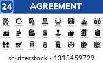agreement icon set. 24 filled...   Shutterstock .eps vector #1313459729