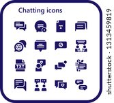 chatting icon set. 16 filled...