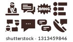 dialog icon set. 8 filled...