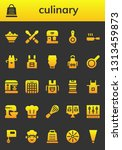 culinary icon set. 26 filled... | Shutterstock .eps vector #1313459873