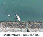 reclaimed beach side flat lay | Shutterstock . vector #1313464403