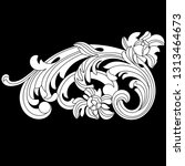 black vintage baroque ornament  ... | Shutterstock .eps vector #1313464673