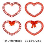 ornate hearts | Shutterstock .eps vector #131347268
