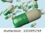 3d illustration antidepressant... | Shutterstock . vector #1313491769