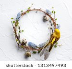 Spring Composition Braided Wreath Twigs - Fine Art prints