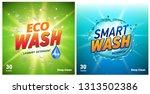 detergent packaging concept...   Shutterstock .eps vector #1313502386