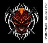 devil evil skull and weapon   Shutterstock .eps vector #1313511440