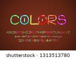 bight alphabet hand drawn... | Shutterstock .eps vector #1313513780