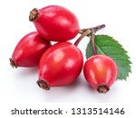 rose hips with rose leaves... | Shutterstock . vector #1313514146