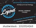 legend. script font. custom... | Shutterstock .eps vector #1313514263