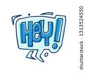 speech bubble in doodle style....   Shutterstock .eps vector #1313524550
