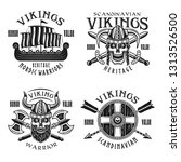 vikings warriors vector emblems ... | Shutterstock .eps vector #1313526500
