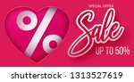 valentines day heart sale tag ... | Shutterstock .eps vector #1313527619