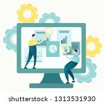 vector illustration of business ... | Shutterstock .eps vector #1313531930
