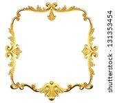 3d gold framework on a white... | Shutterstock . vector #131353454