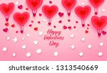 happy valentines day typography ... | Shutterstock . vector #1313540669