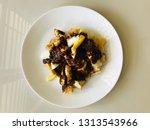 mixed fruit and vegetable rojak ... | Shutterstock . vector #1313543966