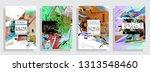 artistic covers design....   Shutterstock .eps vector #1313548460