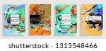 artistic covers design.... | Shutterstock .eps vector #1313548466