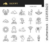 classic elements of egypt.... | Shutterstock .eps vector #1313553623