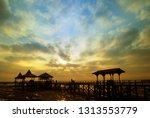 sunrise in dock oldkenpark... | Shutterstock . vector #1313553779