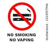 no smoking  no vaping sign.... | Shutterstock .eps vector #1313557946