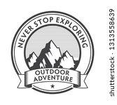 vintage label  badge  stamp ... | Shutterstock .eps vector #1313558639
