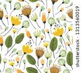 spring theme seamless pattern... | Shutterstock .eps vector #1313560019