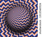 optical illusion hypnotic... | Shutterstock .eps vector #1313560526