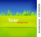 bright background in green and... | Shutterstock .eps vector #131356334