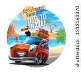 summer time illustration banner ... | Shutterstock .eps vector #1313563370