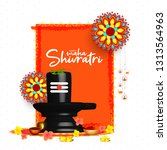 illustration of happy maha... | Shutterstock .eps vector #1313564963