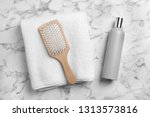 Towel  Hair Brush And Shampoo...