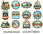 set of summer camp  canoe and... | Shutterstock .eps vector #1313573843
