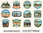 set of summer camp  canoe and... | Shutterstock .eps vector #1313573846