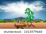 rats in the underground cavity | Shutterstock .eps vector #1313579660