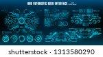 dashboard display virtual... | Shutterstock .eps vector #1313580290