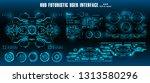 dashboard display virtual... | Shutterstock .eps vector #1313580296
