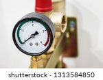 pressure gauge for measuring... | Shutterstock . vector #1313584850