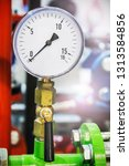 pressure gauge for measuring... | Shutterstock . vector #1313584856