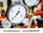 pressure gauge for measuring... | Shutterstock . vector #1313584859